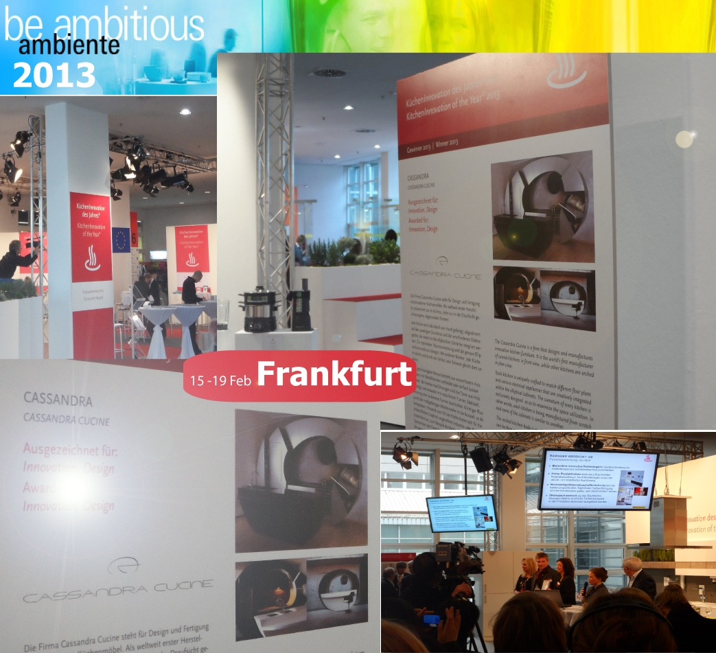 AMBIENTE Fair, Frankfurt, First Award for Design and Innovation